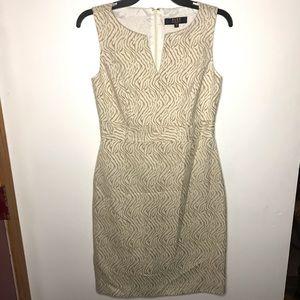 Alex Marie Tan and Cream Zebra Pattern Dress